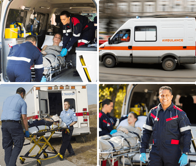 collage of medical transportation services